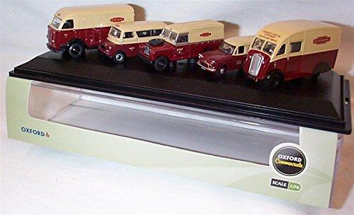 oxford-british-rail-blood-custard-k8-ca-q25-landy-anglia-vans-5-piece-set-176-scale-diecast-model