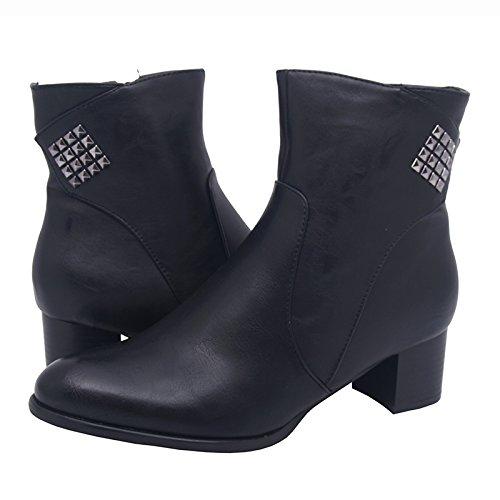Stivali invernali, scarpe da donna, modello 1307400112002133, nero e marrone, modelli e numeri differenti. Nero modello C.