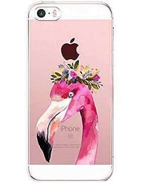 Fundas iPhone 5S 5 SE,Vanki® Suave TPU Funda Parachoques Funda Absorción de Impactos y Anti-Arañazos Case Cover...
