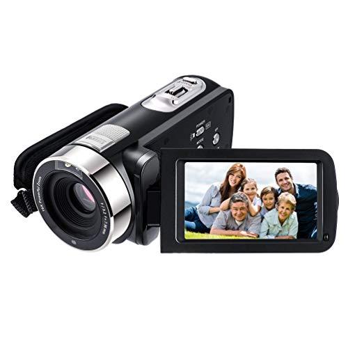 FCGV 3,0-Zoll-TFT-Blitz 24 MP Fhd LCD-Rotationsbildschirm-Digitalkamera mit 16fach-Zoom - Schwarz