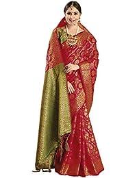 EthnicJunction Art Silk with Blouse Piece Saree