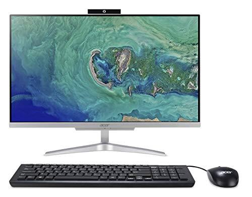 Preisvergleich Produktbild Acer Aspire AC24-865 All-in-One Desktop-PC (Intel Core i3-8130U,  4 GB RAM,  1 TB HDD,  Intel UHD Graphics 620,  Windows 10 Home) Silber – mit spanischer QWERTY-Tastatur und Maus