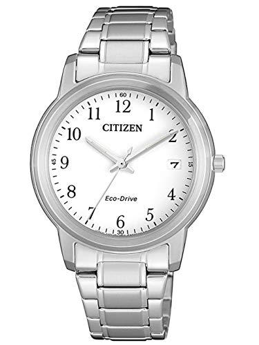 Citizen FE6011-81A Eco Drive Uhr Damenuhr Edelstahl 5 bar Analog Datum Silber (Damen Eco-drive Uhren)