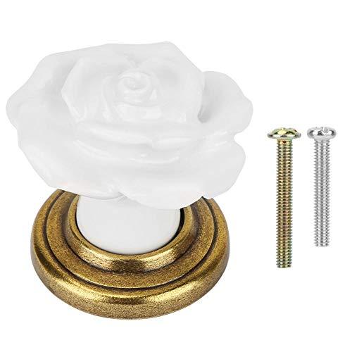 Zerone Ceramic Cabinet Handle Einlochmontage Rose Schrank Türgriffe Kleiderschrank Schublade...