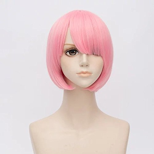 top-max-12-inches-30cm-short-pink-bobo-anime-cosplay-wig-cap