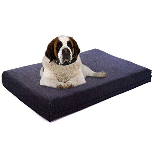 Lucky Dog Orthopädisches Hundebett aus Memory-Schaum, 17,8 cm, umweltfreundlich, hypoallergen, Abnehmbarer und waschbarer Bezug von Pet Support Systems, Extra Large (XL) 52