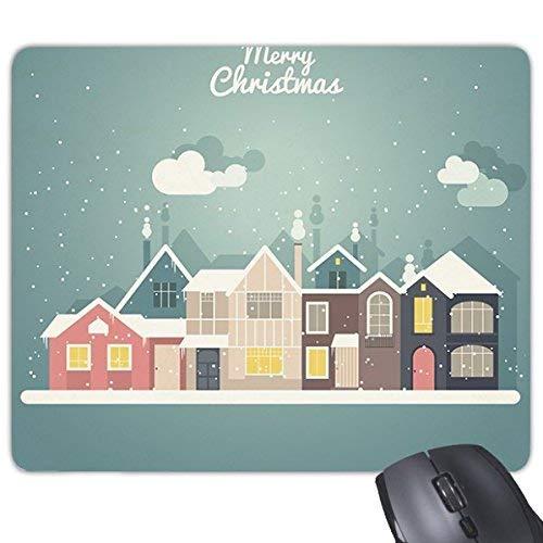 Fuwuxin Home Weihnachtshaus Frohe Weihnachten Festival Illustration Muster Rechteck Rutschfeste Gummi Mousepad Spiel Mauspad