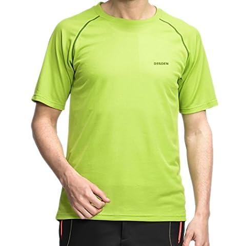 WALK-LEADER - T-shirt de sport - À logo - Manches Courtes - Homme - vert - XX-Large
