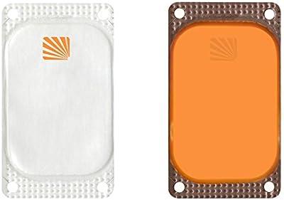 Cyalume - Paquete de 250 balizas luminosas adhesivas rectangulares VisiPad, 10 horas, color naranja