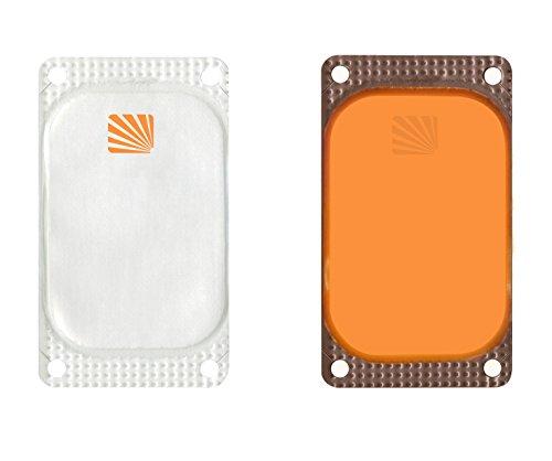 VisiPad Cyalume selbstklebender Leuchtmarkierer Orange (250-er Pack) - kann zur Erhöhung der Sichtbarkeit von Oberflächen verwendet werden - optimiert Rettungseinsätze - Leuchtdauer 10 Stunden