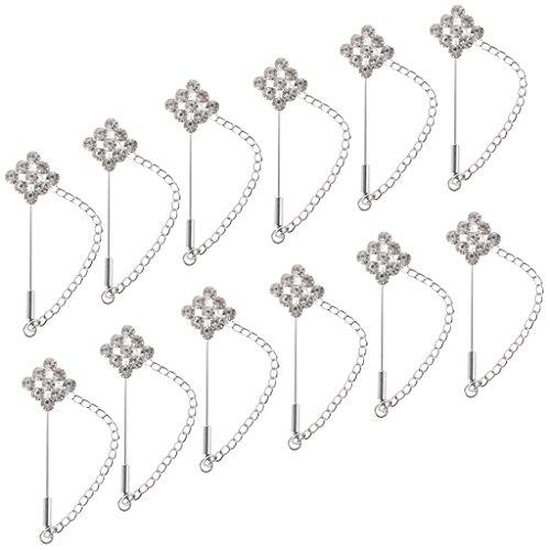 MagiDeal-12pcs-Alfileres-de-Bufanda-Broche-de-Seguridad-con-Cabeza-Cuadro-de-Hijab-Accesorio-de-Diamantes-de-Bricolaje