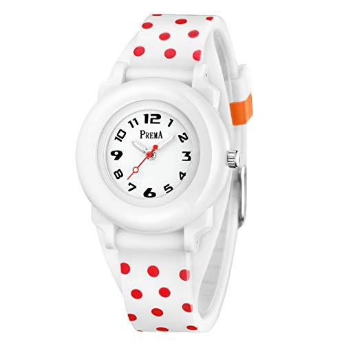 ccgo Reloj Infantil Niño Niña Aprender Hora Analógico Cuarzo Japonés Time Teacher Reloj Digital con Alarma, de Goma Negra