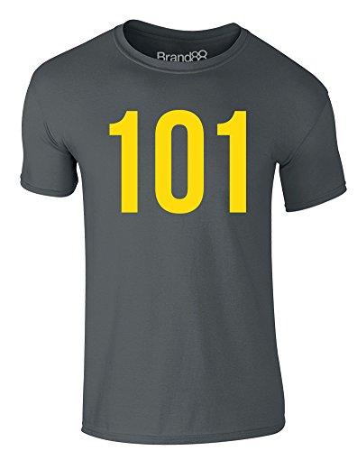 Brand88 - Vault 101, Erwachsene Gedrucktes T-Shirt Dunkelgrau