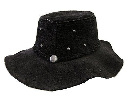 modestone-unisex-floppy-suede-metal-studs-braided-hatband-hippie-hat-black