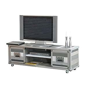 Designer flightcase tV meuble tV gris
