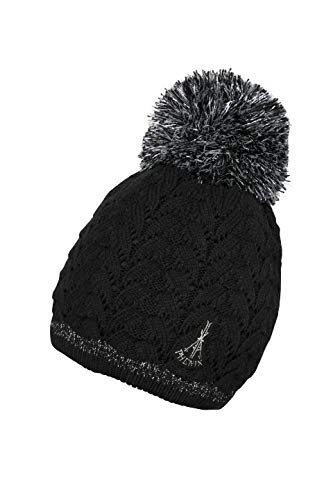 Phenix Aurora Watch Cap mit Pompom Mütze, Black, One Size (Black Cap Watch)