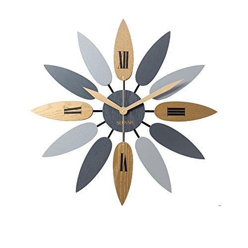 Nordische Wanduhr Wohnzimmer Uhr Moderne minimalistische Mode Uhr stumm hängenden Tisch ( Farbe : A , größe : 52cm ) (Uhr Wohnzimmer Tisch)