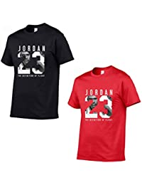 huge selection of ecdb7 f710e Jordan 23 Hommes T-shirt En Coton Imprimé Basket-ball Homme T-shirts