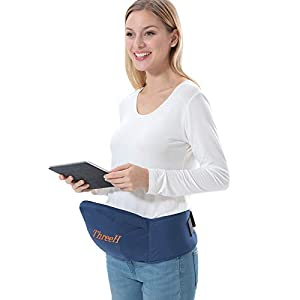 ThreeH Baby Carrier Toddler Hipseat Waist Stool Belt Front Carrier BC10,Blue   2