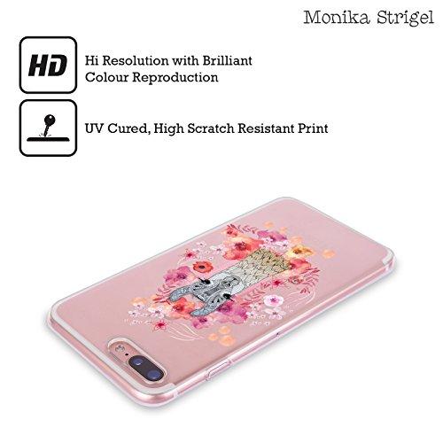 Ufficiale Monika Strigel Giraffa Animali E Fiori 2 Cover Morbida In Gel Per Apple iPhone 6 Plus / 6s Plus Piccolo Lama
