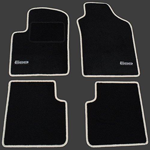 AME Automatten-Experts 1355BKL Auto-Fußmatten mit Logo und Kettelung (Creme) 4-teilig