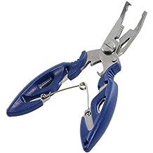 Pesca Pinze Forbici Braid linea Cutter in acciaio inox gancio Remover Anello pesce Tackle rimuovere strumento, Blue