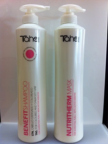 Botanic Hair System Benefit Shampoo and Mask 800 Ml Each by Tahe