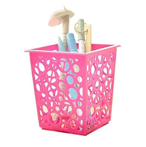 Sannysis Portalápices, Bote para lápices diseño del lápiz Metal, rosa