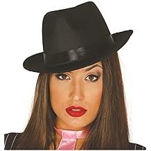 Sombrero de Gánster negro con banda negra 7b51cce7754