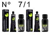 L'Oréal Professionnel Inoa nº 7,1 colorant 2 unités + Alkimist Professional oxygéné 20vol 6% 2 unités