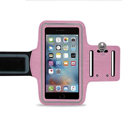 LetiStore Handy Sport Armband - Für Apple iPhone 5 / 5s / SE Smartphone Sportarmband Zum Joggen - Neopren Sporthülle bis 5 Zoll - Rosa (Rosa Iphone 5s Armband)