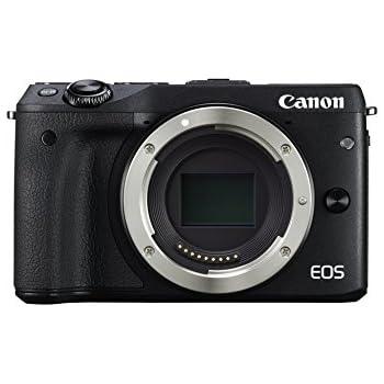 """Canon EOS M3 - Cámara réflex digital de 24.7 Mp (pantalla táctil 3"""", estabilizador óptico, grabación de vídeo), color negro - solo cuerpo"""