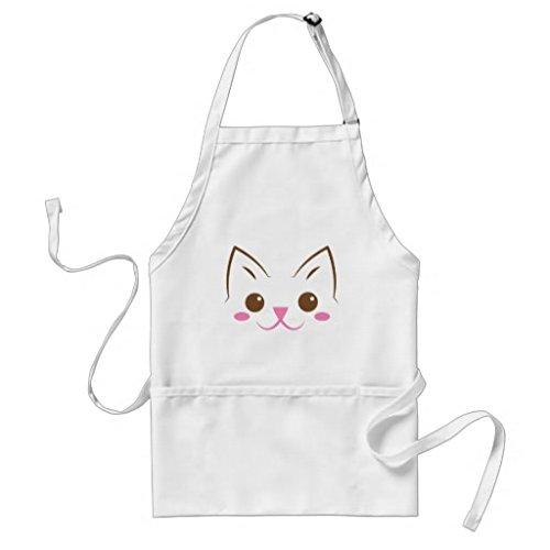 Mignon Tablier Patterns pour filles garçons simple Tête de chat SI mignon Restaurant de cuisine Chef cuisson BBQ tabliers cou réglable et attaches de tour de taille