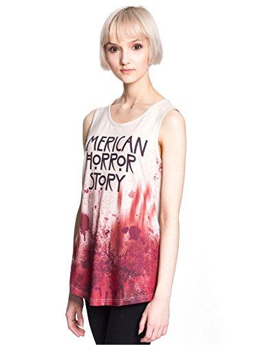 American Horror Story Tank Top Blood Damen creme Creme