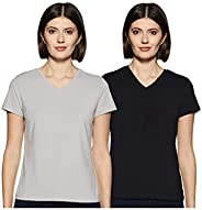 Amazon Brand - Symbol Women's Solid Regular Fit Half Sleeve T-Shirt (Pack o