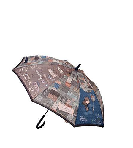 Paraguas Anekke automático Largo Estampado