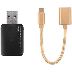XCSOURCE USB Convertisseur Adaptateur de Manette Contrôleur + Type-C OTG Câble pour Xbox One/PS3/PS4 vers Nintendo Switch NS Game Console AC836