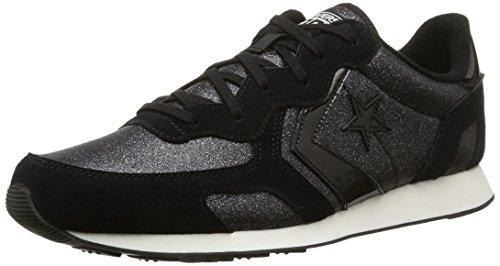 Converse, Auckland Racer Ox Tex/Sue Glit Sneaker,Unisex Adulto, Nero (Black Glam), 35.5