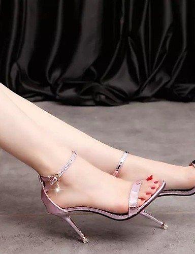 UWSZZ IL Sandali eleganti comfort Scarpe Donna-Sandali-Ufficio e lavoro / Casual-Tacchi / Punta arrotondata-A stiletto-Finta pelle-Rosa / Argento / Dorato Pink