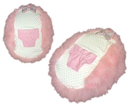 personalisierbar Mädchen rosa Fell Baby Sitzsack