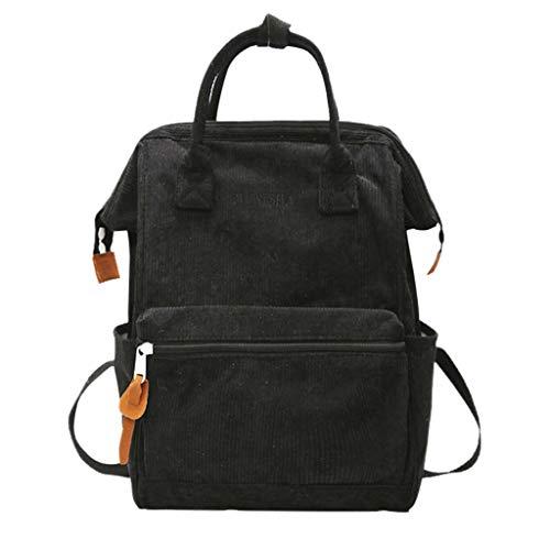 Clearance!DDKK Damen PU-Leder Laptoptasche Aktentasche Crossbody Messenger Bag Satchel Geldbörse Retro Style Vegan Leather - Limited Edition schwarz -