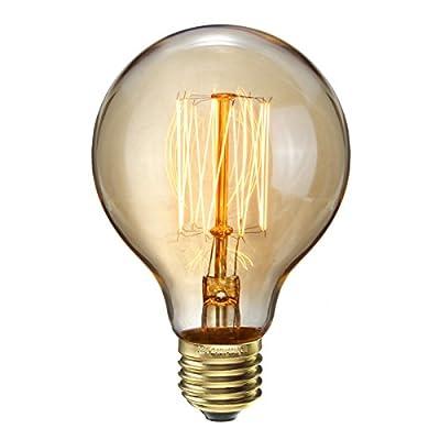Elfeland Edison Glühbirne / E27 60W Industrial Vintage Stil / Squirrel Cage Filament / für Hängelampe Wandleuchte Pendelleuchte / Modell G80
