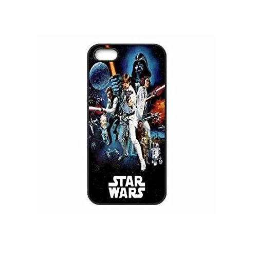 Star Wars Movie film Stormtrooper Vader Empire Force Yoda Phone Case Cover with Screen Protector & Cloth For iPhone 6 & 6S (4.7 inch) - in BLACK