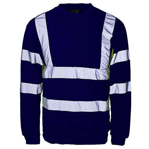 Fast Fashion - Hi Sweat-Shirt De Safety Viz De Vêtements De Travail Visibilité Réfléchissante Jumper