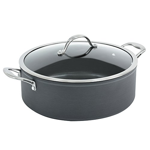 ProCook Professional Anodised Induction Non-Stick Casserole with Lid 28cm / 6.1L