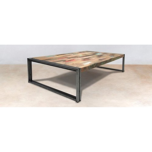 PierImport Table Basse Rectangle Bois recyclé 140x80 CARAVELLE