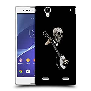 Snoogg Skeleton Playing Old Guitar Designer Protective Back Case Cover For SONY XPERIA T2 ULTRA
