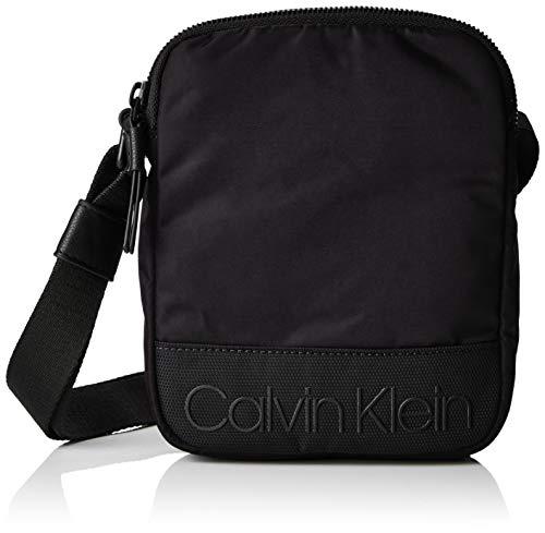 Calvin klein shadow mini reporter - borse a spalla uomo, nero (black), 4x20x16 cm (b x h t)