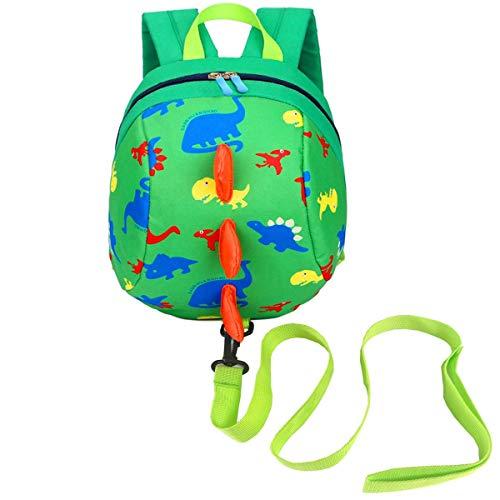 DB Toddlers Dinosaur Backpack con Security Baby Corda Anti-perso, Kids Cartoon Safety Harness Zaino con Redini, Bambini in età Prescolare con Guinzaglio per 1-3 Ragazzi e Ragazze.