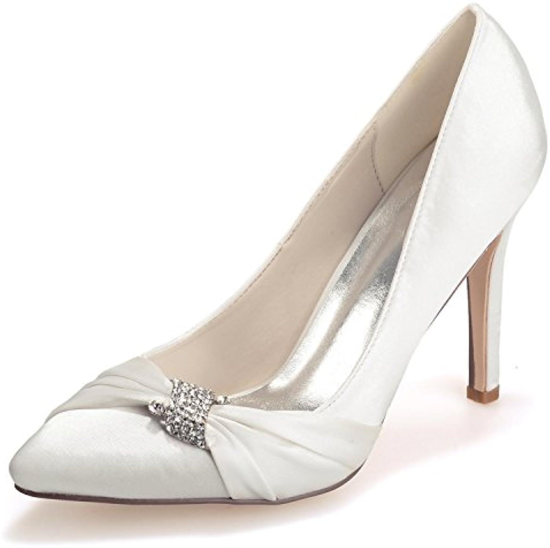 Elobaby Scarpe da Sposa Donna WR584 Tinta Unita con Tacco Alto (35-43 Taglie) (12,5 Tacco) | Di Progettazione Professionale  | Uomini/Donna Scarpa